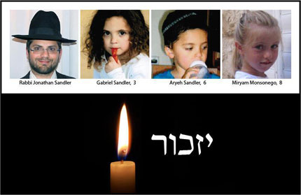 Rabbi, two sons & little girl murdered